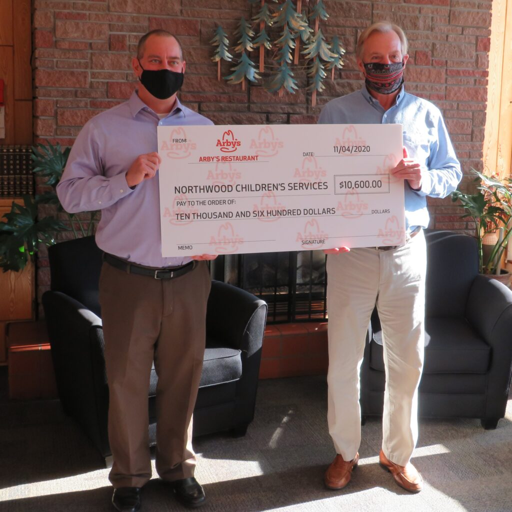 Arby's donated to northwoods children services